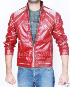 Michael Jackson Red Leather Coat Beat It