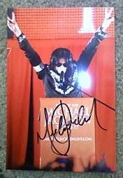 Michael Jackson Signed 4X6 Photo with COA Autograph