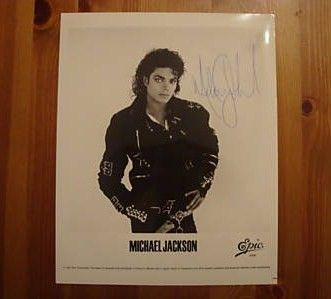 Michael Jackson signed framed autograph picture