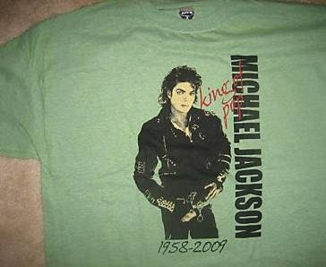 Michael Jackson T-Shirt Limited Edition Memorial Front