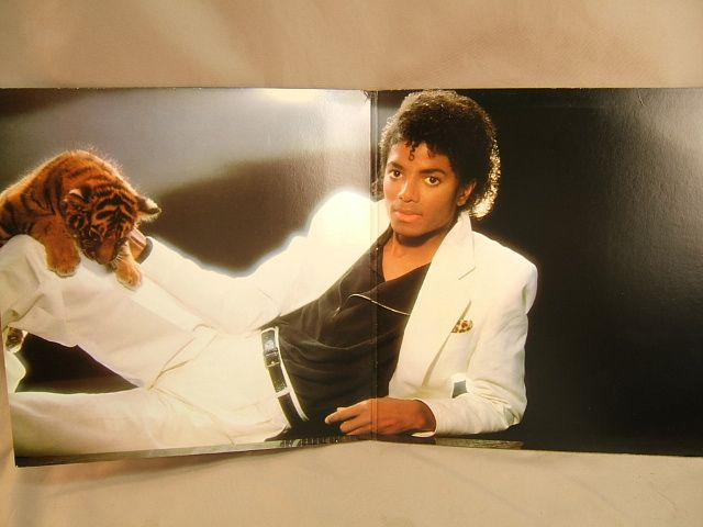 Michael Jackson Thriller LP opened display