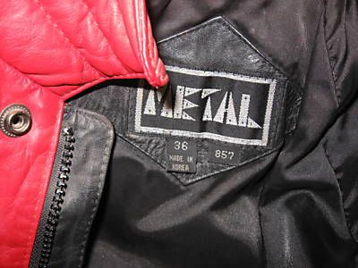 TMichael Jackson Thriller style red black leather jacket
