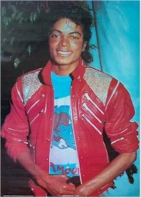 Michael Jackson in Red Beat It Jacket