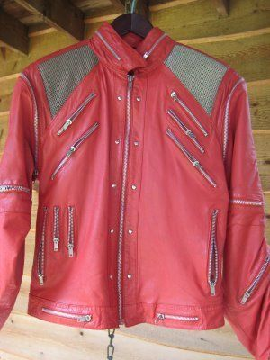 Michael Jackson original J Parks design red jacket