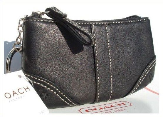 COACH Leather Medium Mini Skinny Black 40600