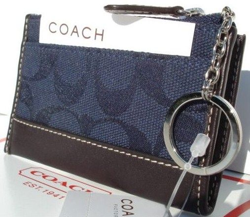 COACH Mini Skinny Signature Dk Blue 6K25