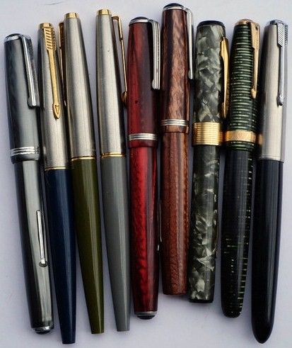 Mixed Lot of Vintage Pens/Parker Fountain Vacumatic 45 Penman, Esterbrook