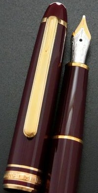 Montblanc 144 Meisterstuk Classic Burgundy Med Nib