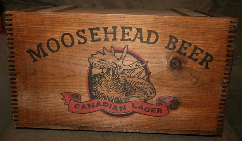 Moosehead Wooden Beer Crate