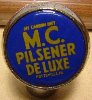 Mt Carbon Pilsener Beer Tap Knob