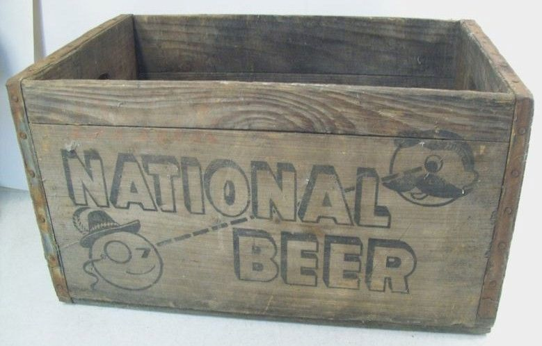 National Beer Vintage Wooden Crate