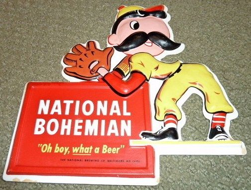 National Bohemian Beer Baseball Sign