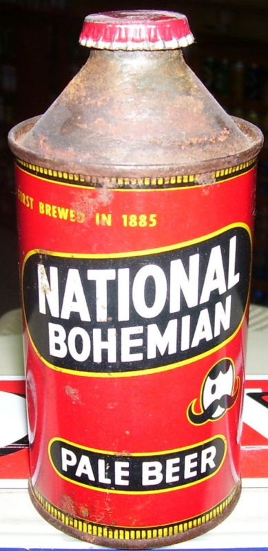 National Bohemian Pale Beer Cone Top Can w/Cap