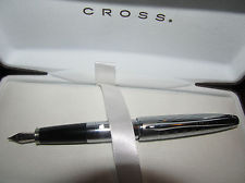 New Cross 18k Pure White Gold/Platinum Fountain Pen