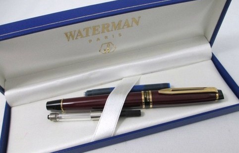 NOS Vintage Waterman Expert II Burgundy Lacquer Fountain Pen