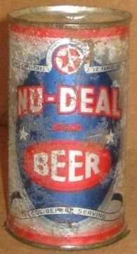 Nu Deal Flat Top Beer Can OI Grace Brothers