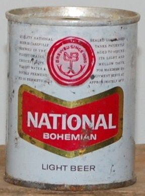 National Bohemian 8 ounce Zip Tab Beer Can
