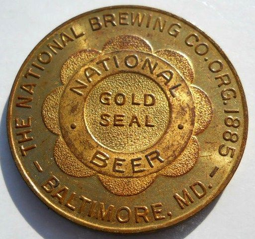 National Bohemian Beer Gold Seal Good Luck Coin-Token