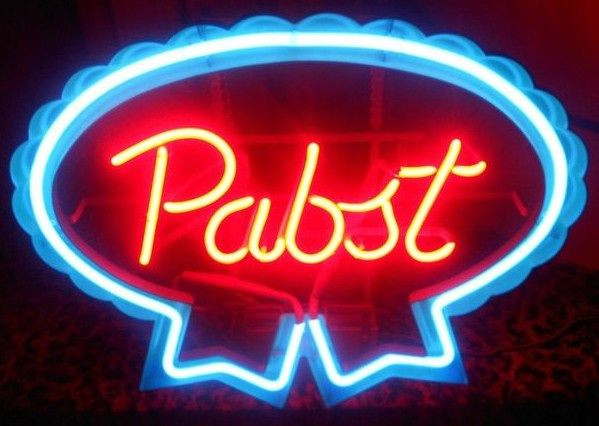 Neon Sign Pabst Beer 1980s