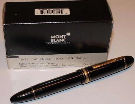 Nice Vintage Montblanc 149 Masterpiece Fountain Pen w/Black Ink