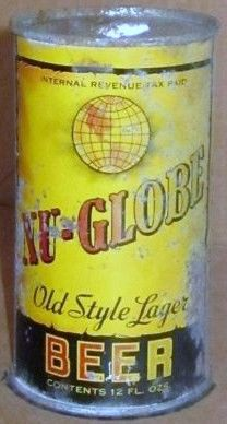 Nu-Globe Lager Flat Top Beer Can