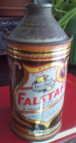 Old Falstaff Cone Top Beer Can