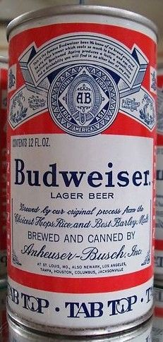 Old Budweiser Tab Top Beer Can