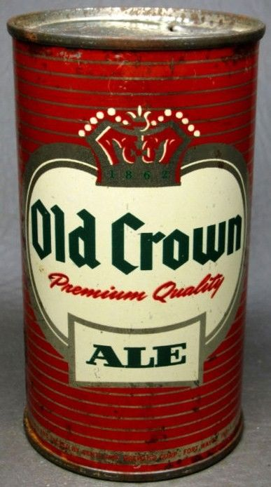 Old Crown Flat Top Beer Can Centlivre Indiama