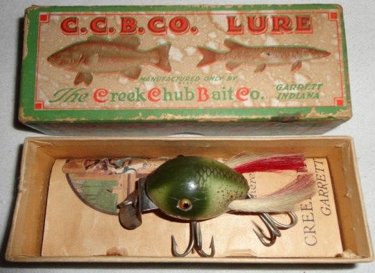 Old Dingbat Fishing Lure w/Original Box & Pocket Catalog width=