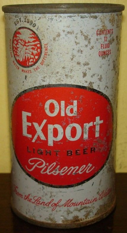Old Export Flat Top Beer Can/Cumberland MD