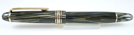 Old Montblanc Masterpiece Green Striated 144 14Ct bi-Color