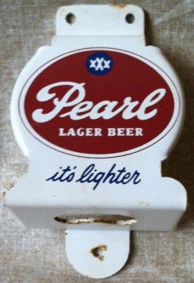 Old Pearl Beer Texas Advertising Wall Mount Bottle Opener