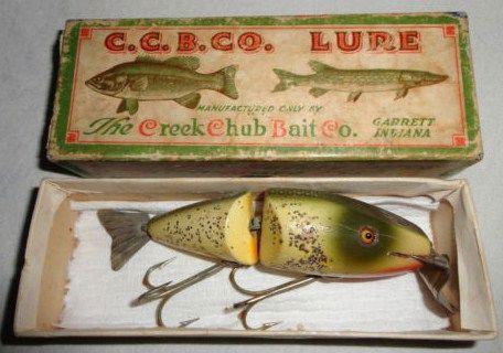 Old Wood Creek Chub Wigglefish Lure with Box