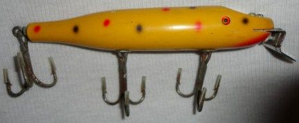 Old wooden Creek Chub Musky Fishing Lure