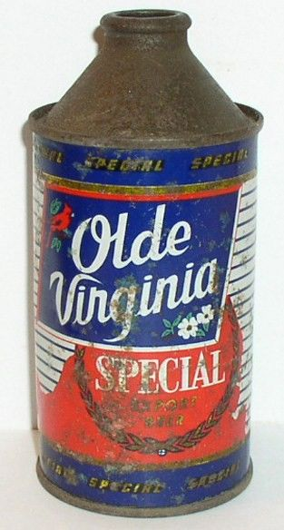 Olde Virginia Special Export Beer Cone Top Can