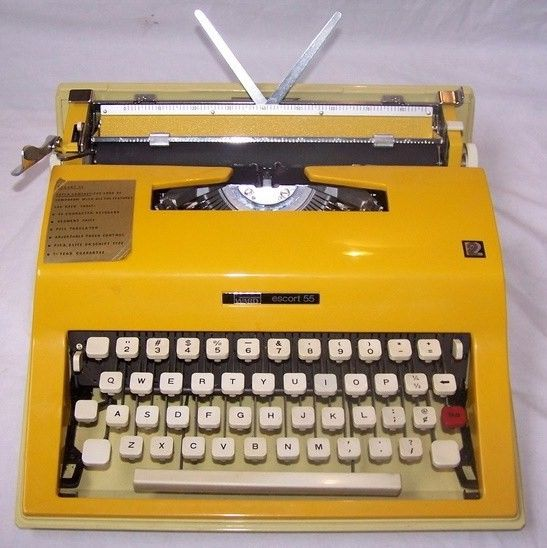 Olivetti Escort 55 Yellow