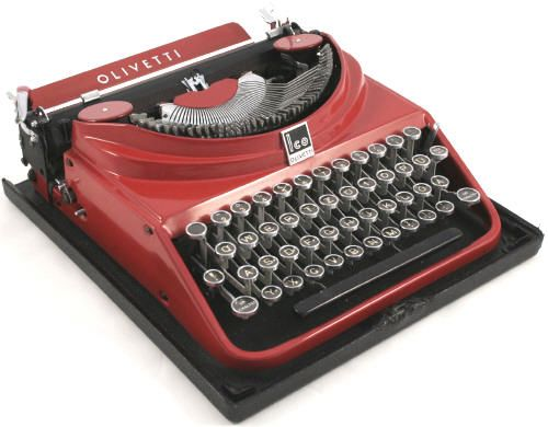 Olivetti MP1 Red Typewriter 1946 model