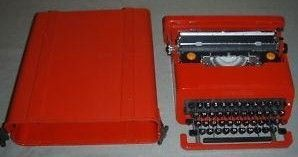 Spanish Olivetti 1969 Red Valentine Portable Typewriter