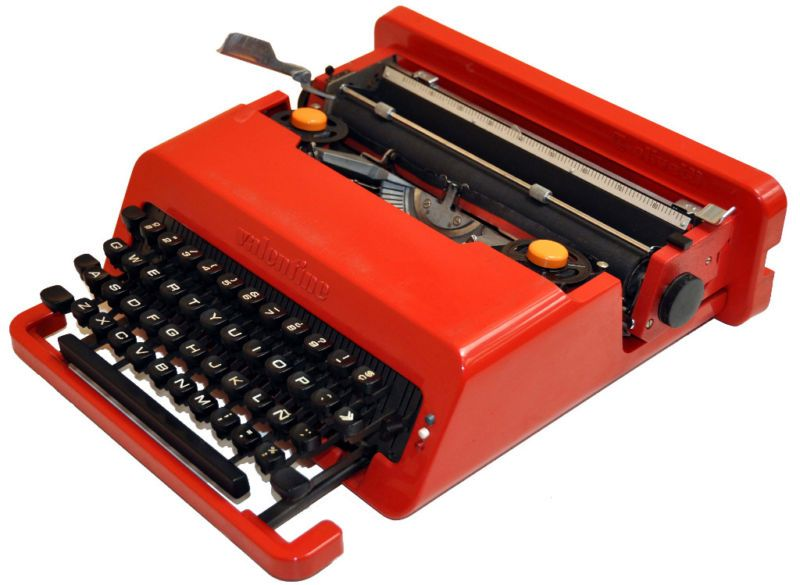 Olivetti Valentine Typewriter Full View