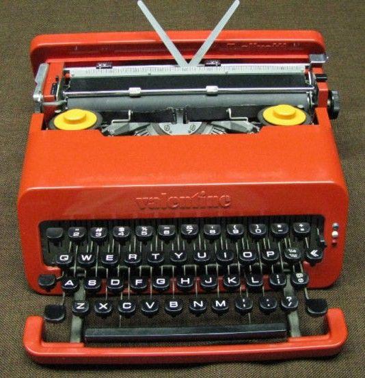 Olivetti Valentine Typewriter Sottsass Red