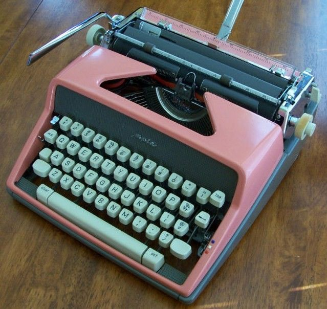 Olympia DeLuxe SM7 Manual Cursive Pink Typewriter