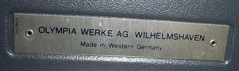 Olympia Steel Tag Made in Western Germany