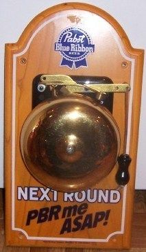 Pabst PBR me ASAP Metal Ringing Boxing Tip Bell Sign