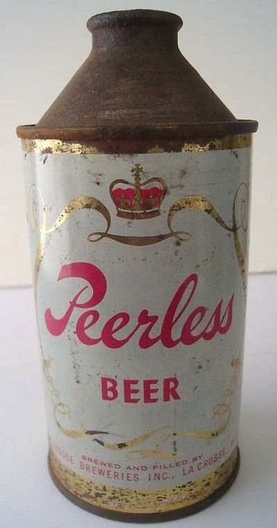 Peerless Cone Top Beer Can