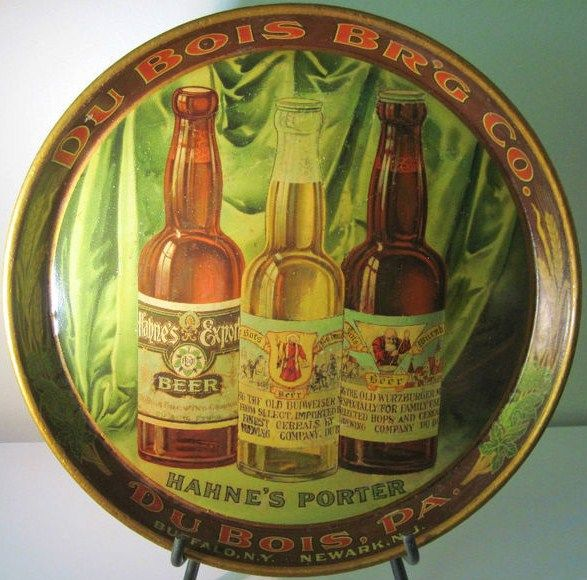 Pre Prohibition Dubois Brewing Co Hahnes Budweiser Beer Tray