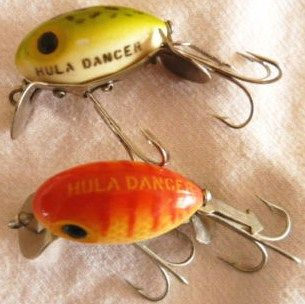 Pair of Fred Arbogast Hula Dancer Lures