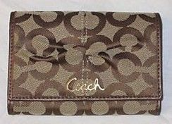 Coach OP Art Signature Compact Clutch Wallet