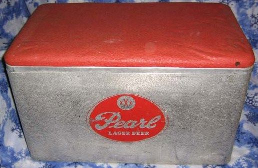 Pearl Beer Old Metal Ice Chest
