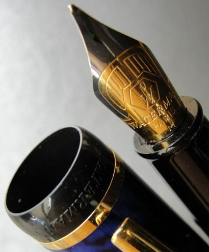 Pearl Blue Waterman Phileas Fountain Pen 14K Gold