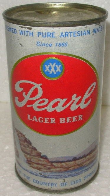 Pearl Lager Beer 12 ounce Flat Top Can San Antonio TX